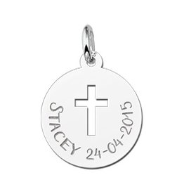 Engraved jewellery Names4ever First Communion Pendant Cross Gift