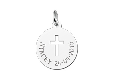 Engraved jewellery First Communion Pendant Cross Gift