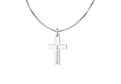 Engraved jewellery Holy Communion Cross Pendant for Boys