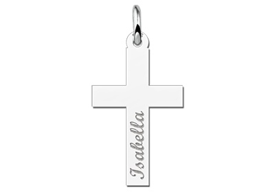 KAYA jewellery Silver Communion Cross Pendant Gift