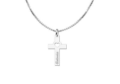 KAYA jewellery Holy Communion Gift Cross with Name
