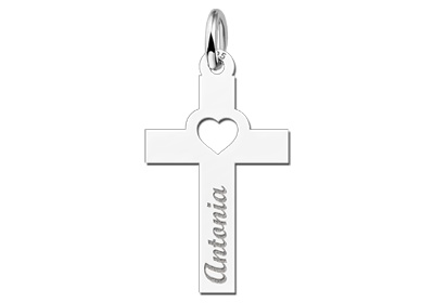 Engraved jewellery Holy Communion Gift Cross with Name