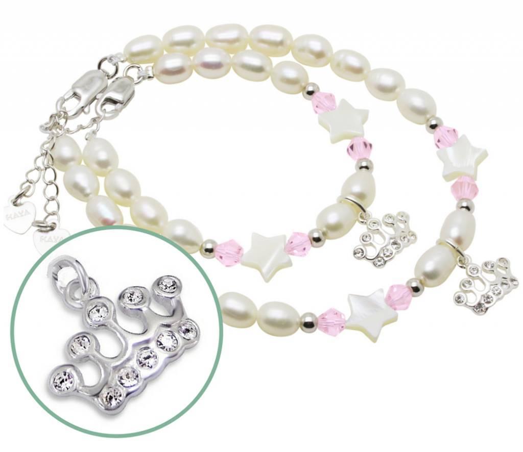 Little Diva (silver) Silver Mom & Me Bracelet 'Little Star' Crowns