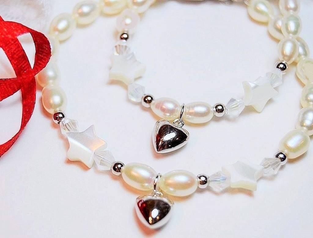 Midnight star (silver) Silver Mom & Me 'Midnight Star' Heart Bracelet