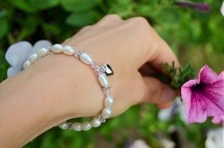 Little Diva (silver) Sterling Silver Mom & Me bracelet set 'Little Diva'