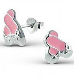 """silver jewellery Silver earrings """"Ballet shoes"""""""