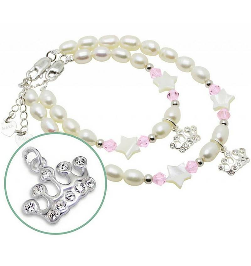 KAYA jewellery Silver Mom & Me Bracelet 'Little Star' Crowns