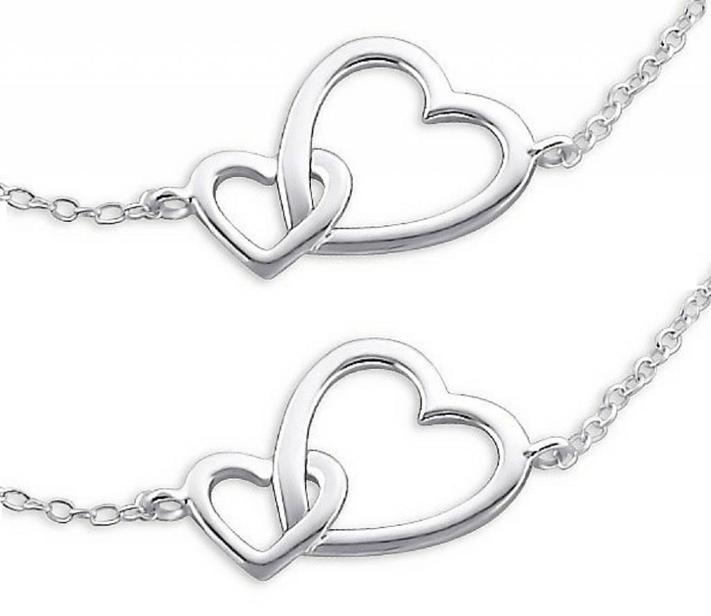 silver jewellery Silver Mum & Me Bracelets set 'Connected'