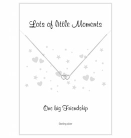 Jewellery Card Jewellery Card 'One Big Friendship' double heart