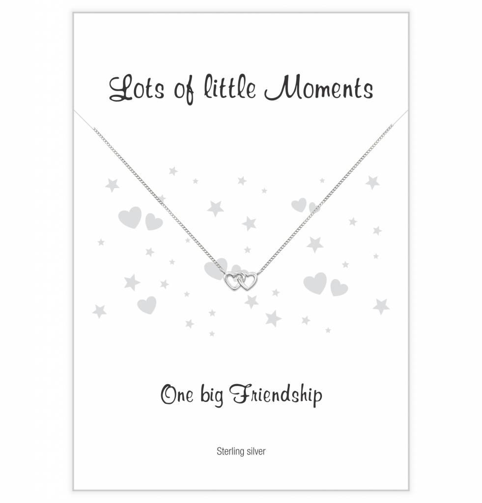 Jewellery Card Jewellery Card 'One Big Friendship' double heart