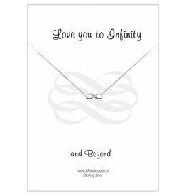 KAYA jewellery Jewellery Card 'Love you to Infinity...'