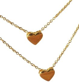 silver jewellery Mum & Me Necklaces 'Heart of Gold'