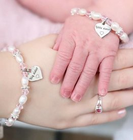 KAYA jewellery Two bracelets 'Big Sister & Little Sister' Infinity Pink