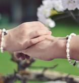 Infinity Mom & Me bracelets 'Infinity White' butterfly