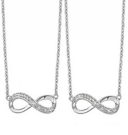 KAYA jewellery Silver Mother and Daughter Chains 'Forever'