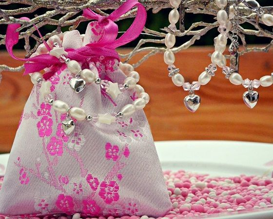 "silver jewellery Silver chains set ""Key to my Heart '"