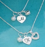 KAYA jewellery Silver chains set Connected by the 'Heart'