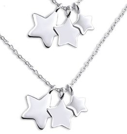 KAYA jewellery Silver Mom & Me chains 'I Love you to the Stars & Back'