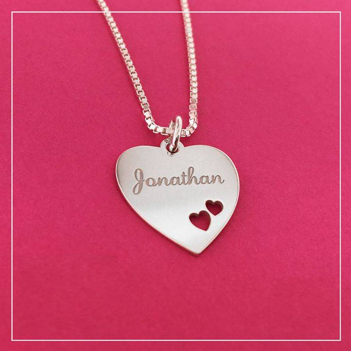 KAYA jewellery Silver Necklace 'Personalize' with Pearl