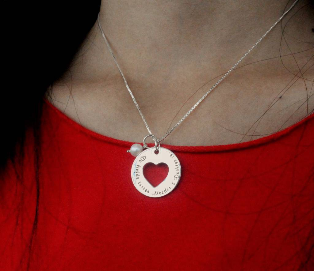 silver jewellery Silver 'Love' necklace 'Love you to the Moon & Back'