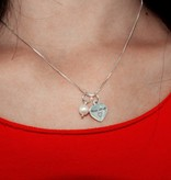 silver jewellery Mom & me necklace 'The love between Mom & Daughter'