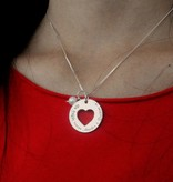 silver jewellery Mom & me necklace 'Love you to the Moon & Back Forever'