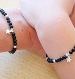 silver jewellery Silver Bracelet 'Black Onyx' with Cross