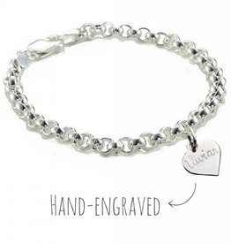 silver jewellery Silver Chain Bracelet 'Personalised'