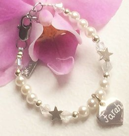 Accent Charms Infant bracelet with engraved charm ★ name, date, word ★