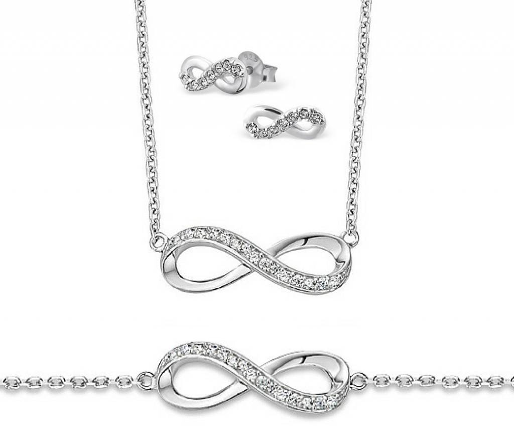 KAYA jewellery Silver 3 generation set 'Forever'