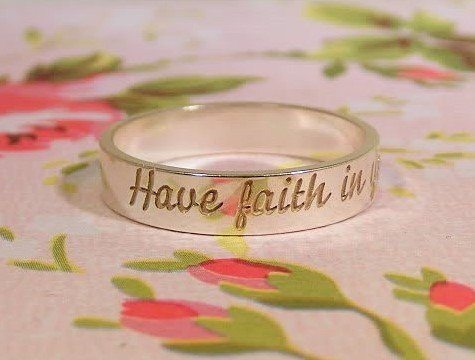 KAYA jewellery Text Ring 4mm Steel engraving