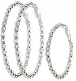 silver jewellery Trendy silver 3 generation chain bracelets