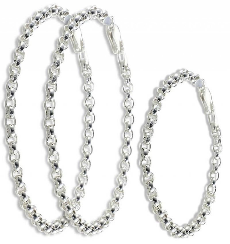 KAYA jewellery Trendy silver 3 generation chain bracelets