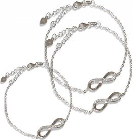 "KAYA jewellery 3 Generations Silver Infinity Sets ""You are Loved to Infinity"""
