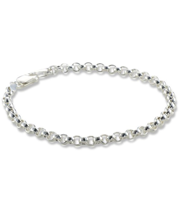 silver jewellery Silver Round Link Bracelet - ideal for charms