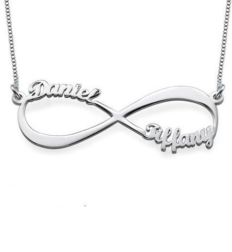silver jewellery Silver Infinity necklace 'Close to my Heart'
