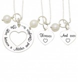 silver jewellery Mom and two daughters ' You stole my Heart '+ Pearls