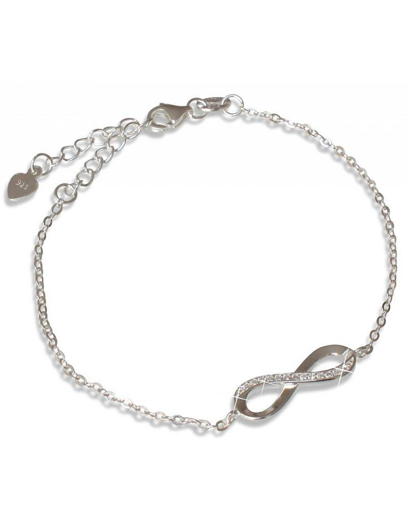 "silver jewellery Silver Bracelet ""You are loved for Infinity"""