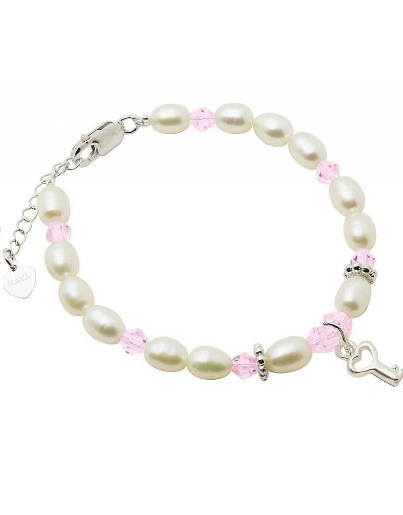 "Star Silver Baby Bracelet ""Little Diva"" with Key"