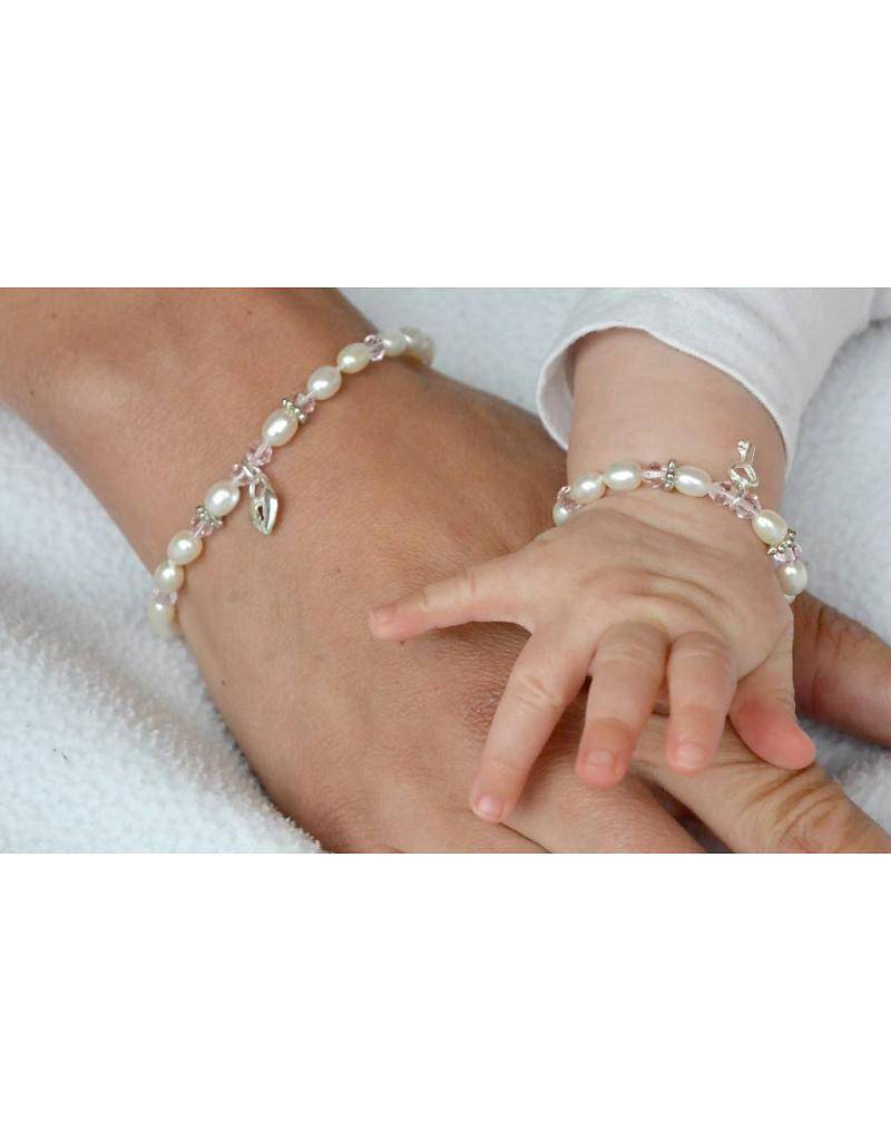 "KAYA jewellery Silver Baby Bracelet ""Little Diva"" with Key"