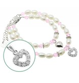 Little Diva (silver) Silver Mom & Me Bracelet set 'Little Diva' together
