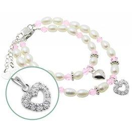 Little Diva (silver) Silver Mom & Me Bracelet Set 'Little Diva' Together