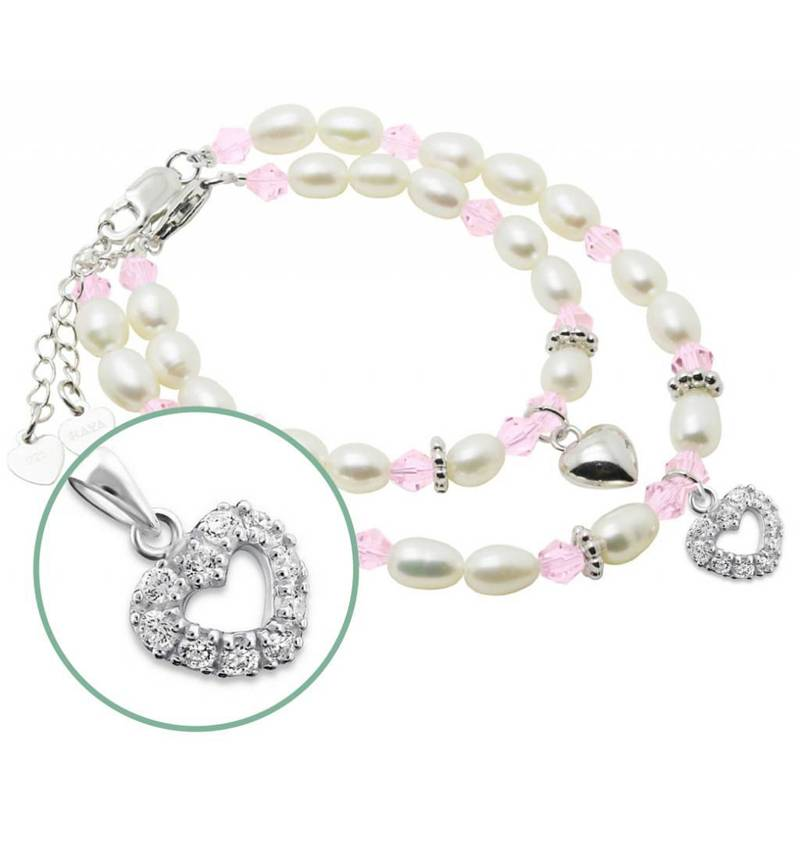 KAYA jewellery Silver Mom & Me Bracelet set 'Little Diva' together
