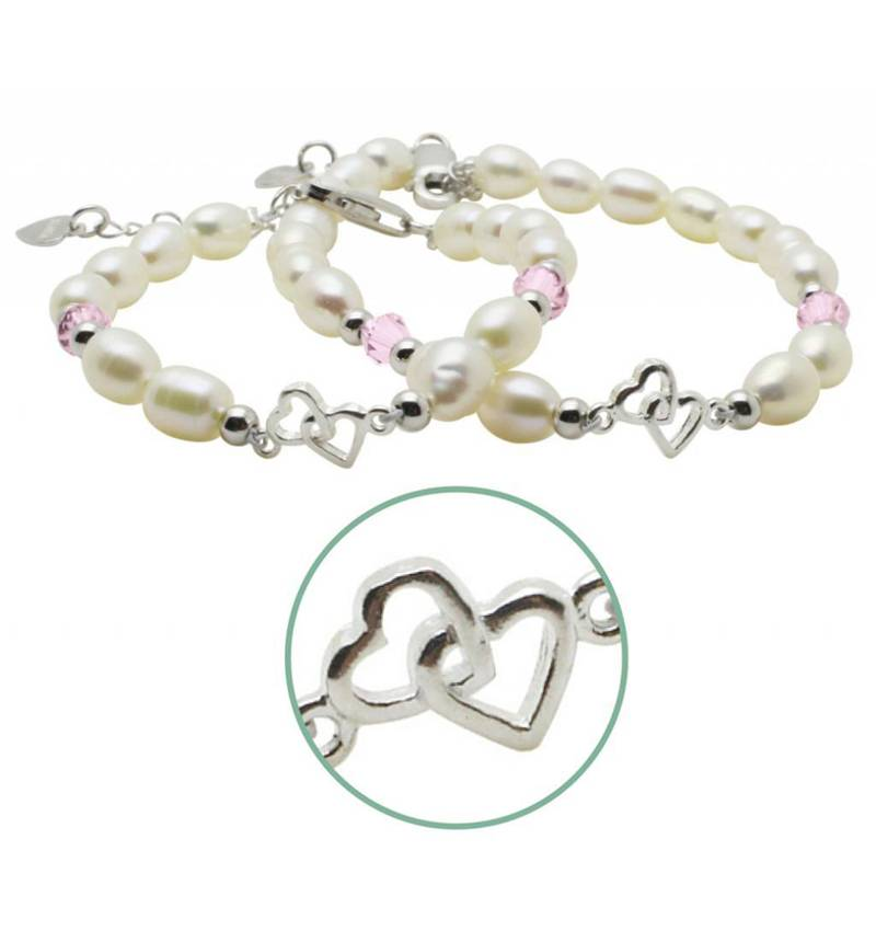 KAYA jewellery Silver Mom & Me 'you & me forever' Bracelet