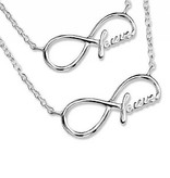 silver jewellery Silver Mum & Me Necklaces 'Forever'