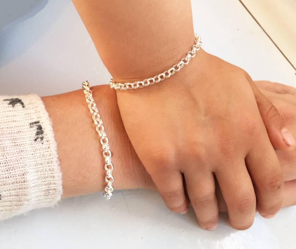 silver jewellery Personalized Silver Bracelet 'Chain'
