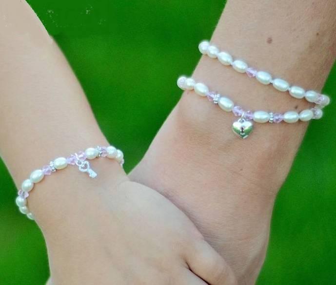 Little Diva (silver) Silver Mom & Me Bracelet 'Little Diva' with Key-Lock