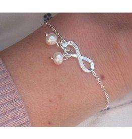 "silver jewellery Silver Infinity Mum Bracelet ""Two Children"""