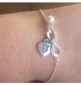 """silver jewellery Silver Infinity Mum Bracelets """"Love"""""""