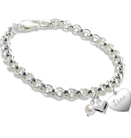 KAYA jewellery Personalized Silver Bracelet 'Hand engraved'